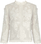 Vanessa Bruno Fabago embroidered cotton-voile top