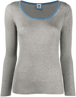 M Missoni Ribbed Scoop Neck Top