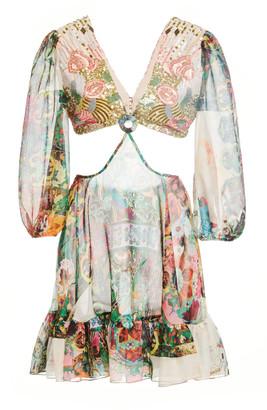 Alexis Ziya Cutout Crepe Mini Dress