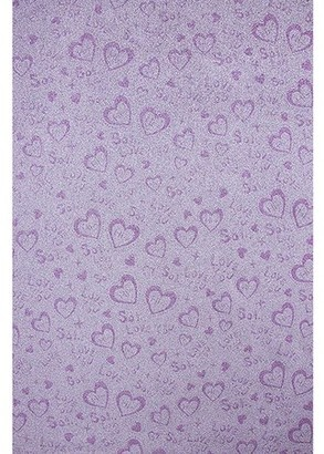 Fablon Pink Glitter Hearts Adhesive Film Set of 2