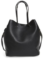 Street Level Faux Leather Bucket Bag - Black