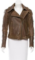 Donna Karan Leather Biker Jacket