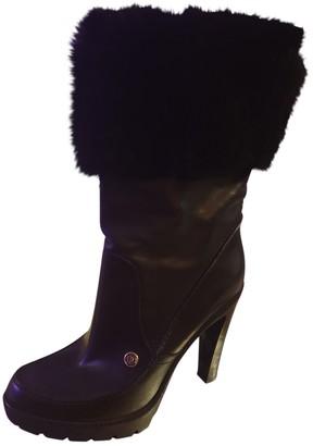 Christian Dior Black Mongolian Lamb Boots