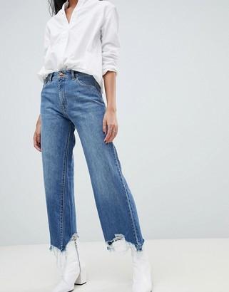 DL1961 Hepburn high rise wide leg jean-Blue