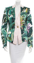 Just Cavalli Printed Notch Lapel Blazer w/ Tags