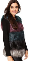 New York & Co. Faux-Fur Sweater Sleeve Vest
