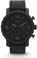 Fossil Men's JR1354 Nate Stainless Steel Chronograph Watch with Leather Band