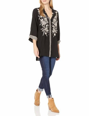 3J Workshop by Johnny was Women's Silk Embroidered Kimono Sleeve Tunic