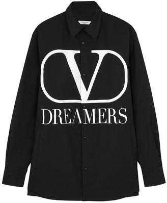 Valentino Black Logo Shell Jacket