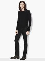 John Varvatos Silk Cotton Fine Ribbed Crewneck