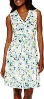 Liz Claiborne Sleeveless Floral Fit-and-Flare Dress