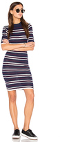 J.o.a. Bodycon Stripe Dress in Navy. - size XS (also in )