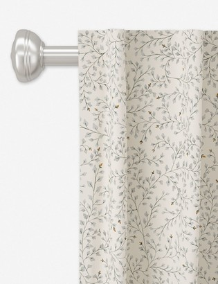 Lulu & Georgia Rylee + Cru Curtain Panel, Dainty Leaves