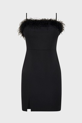 Coast Strappy Feather Bardot Short Dress