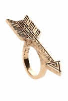 House Of Harlow Antiqued Arrow Ring in Rose Gold