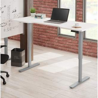 Laney Curved Electric Height Adjustable Standing Desk Symple Stuff Color: White