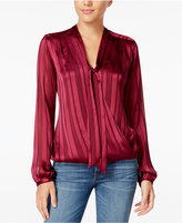 GUESS Belissa Printed Tie-Neck Blouse