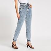 River Island Blue acid wash tapered leg jeans