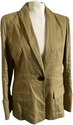 Diane von Furstenberg Beige Linen Jackets