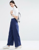 Asos Textured Slouch Wide Leg Pants