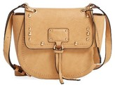 Sole Society Studded Faux Leather Crossbody Bag - Brown