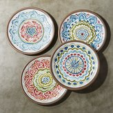 "Crate & Barrel Set of 4 Caprice 8.5"" Melamine Salad Plates"