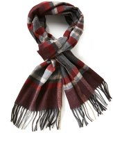 Fraas Fringed Horizontal Plaid Muffler