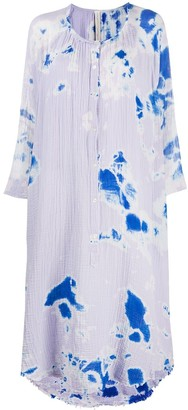 Raquel Allegra Poet tie-dye dress