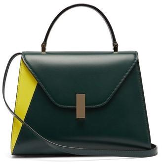 Valextra Iside Medium Leather Bag - Dark Green