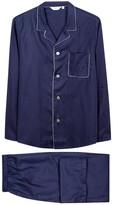 Derek Rose Navy Printed Cotton Pyjama Set
