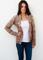 Goddis Berto Fitted Button Knit Jacket In Hazelnut