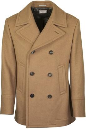 Brunello Cucinelli Baby Camel Double Cloth Wool Pea Coat