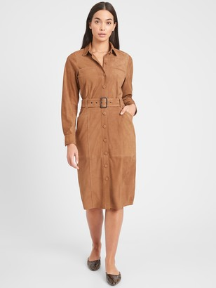 Banana Republic Heritage Suede Bahia Dress