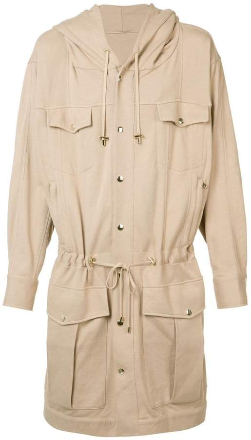 Balmain long drawstring jacket