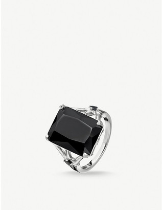 Thomas Sabo Magic Stones sterling silver and onyx cocktail ring