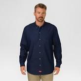 Dickies Men's Big & Tall Relaxed Fit Denim Long Sleeve Button Down Shirt