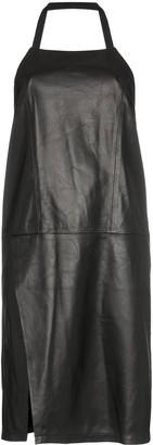 Sandy Liang congee leather halterneck dress