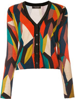 Twin-Set colour-block geometric cardigan - women - Polyamide/Polyester/Viscose - S
