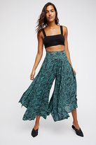 Free People Floral Fields Maxi Culotte