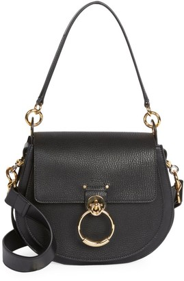 Chloé Medium Tess Leather Saddle Bag