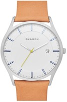 Skagen Men's Holst Leather Strap Watch