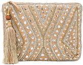 Star Mela Mukti Embroidered Clutch in Beige.