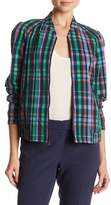 Anne Klein Checkered Plaid Jacket