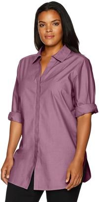 Foxcroft Women's Vera Solid Non Iron Tunic
