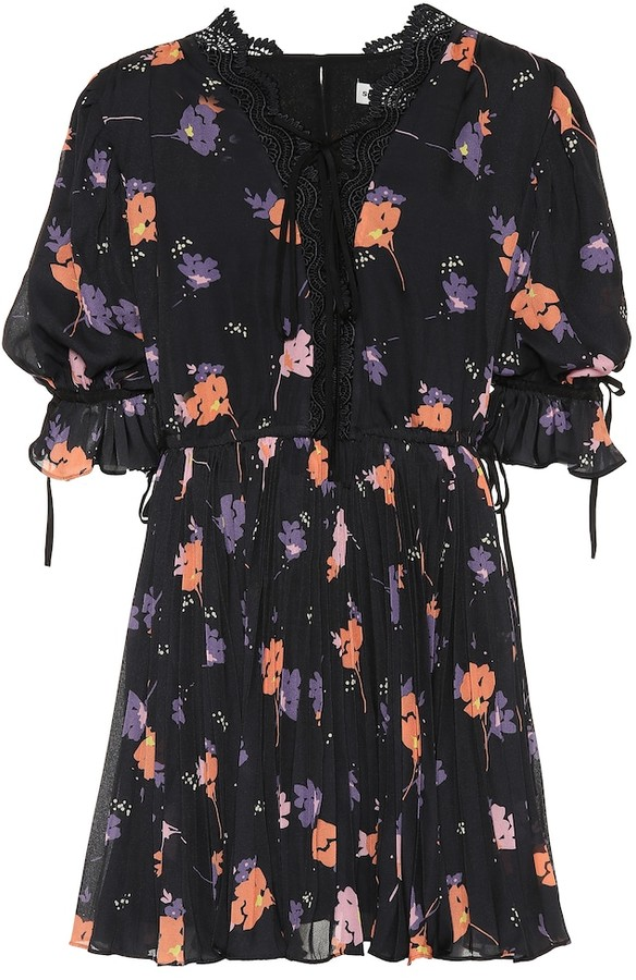 Self-Portrait Exclusive to mytheresa.com a Floral-printed crApe minidress