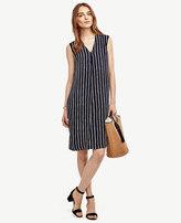Ann Taylor Striped Sleeveless Dress