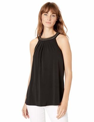 Calvin Klein Women's Sleeveless TOP with Neck Detail
