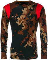 DSQUARED2 camouflage print jumper
