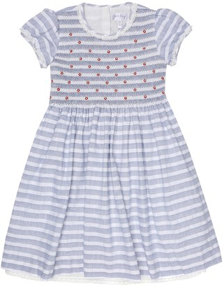 Rachel Riley Rosebud striped cotton dress