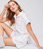 LOFT Plaid Pajama Set